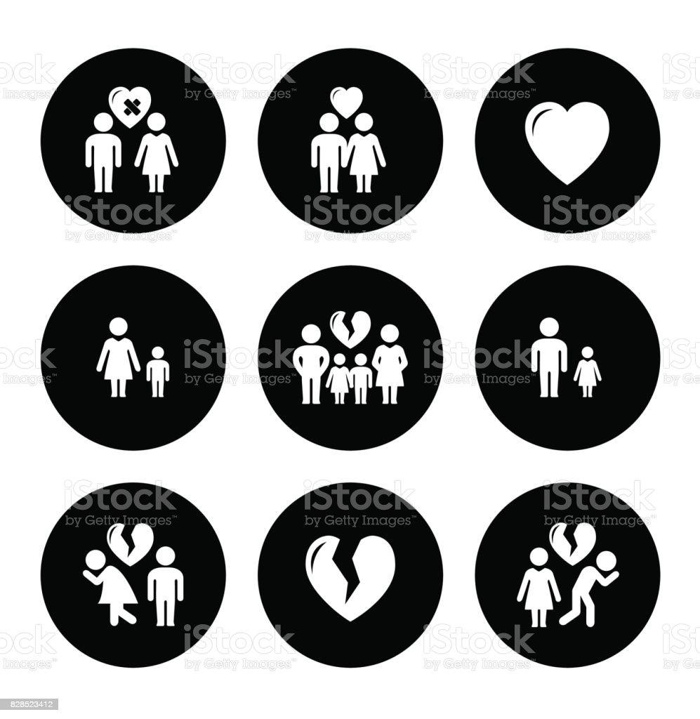 icônes d'aide familiale de concept - Illustration vectorielle