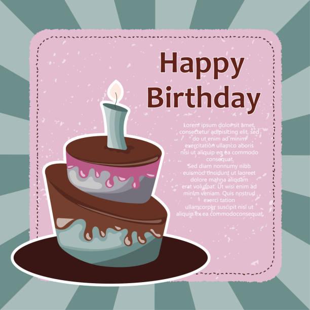 Royalty Free Valentines Birthday Cake Silhouette Clip Art Vector