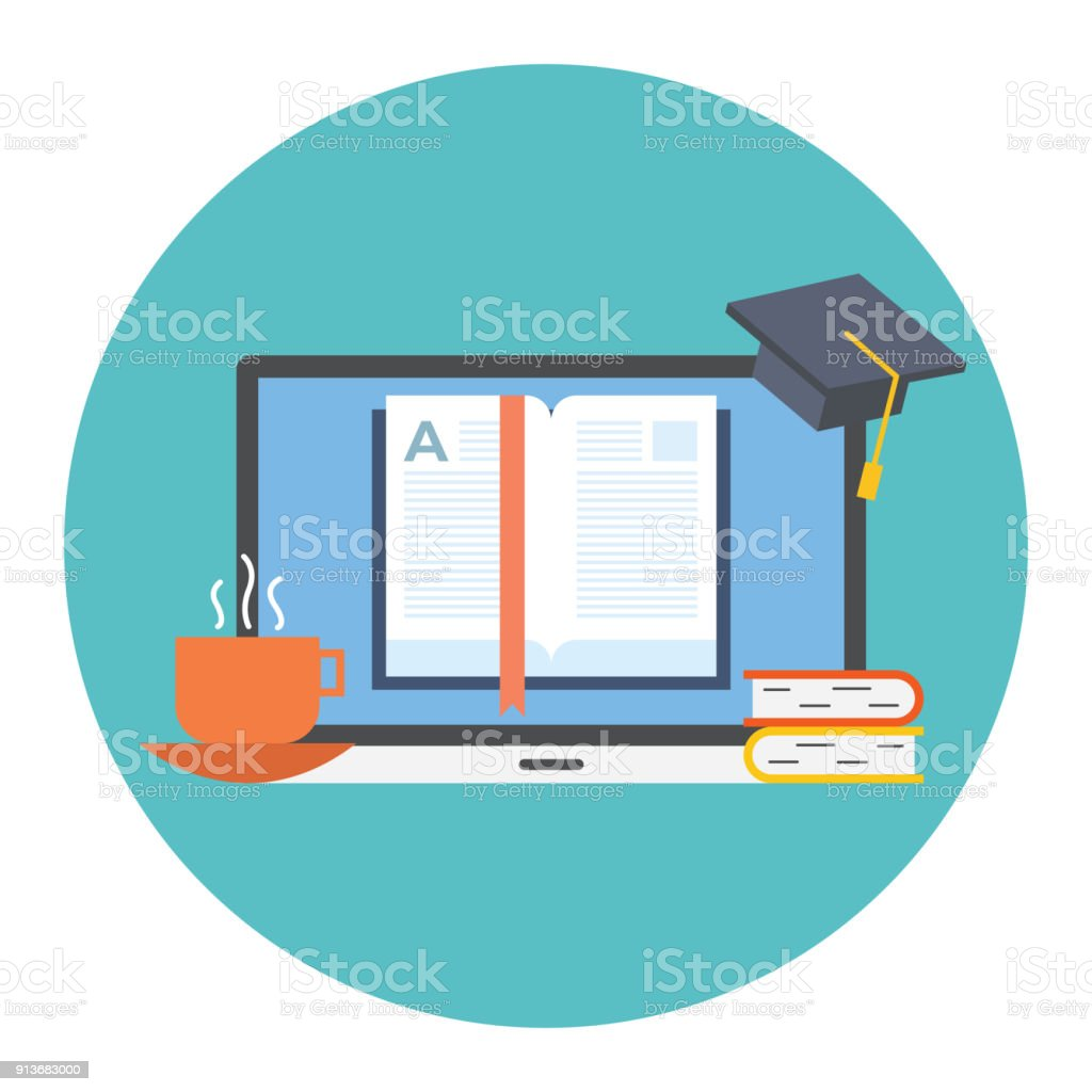 Concept For Distance Education Online Learning For Web Banners Stock Illustration Download Image Now Istock