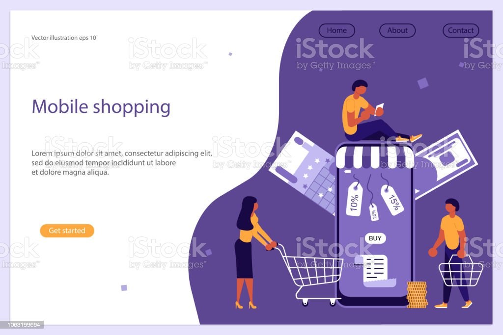 Concept For Mobile Shopping Ecommerce And Online Store Stock Illustration Download Image Now Istock