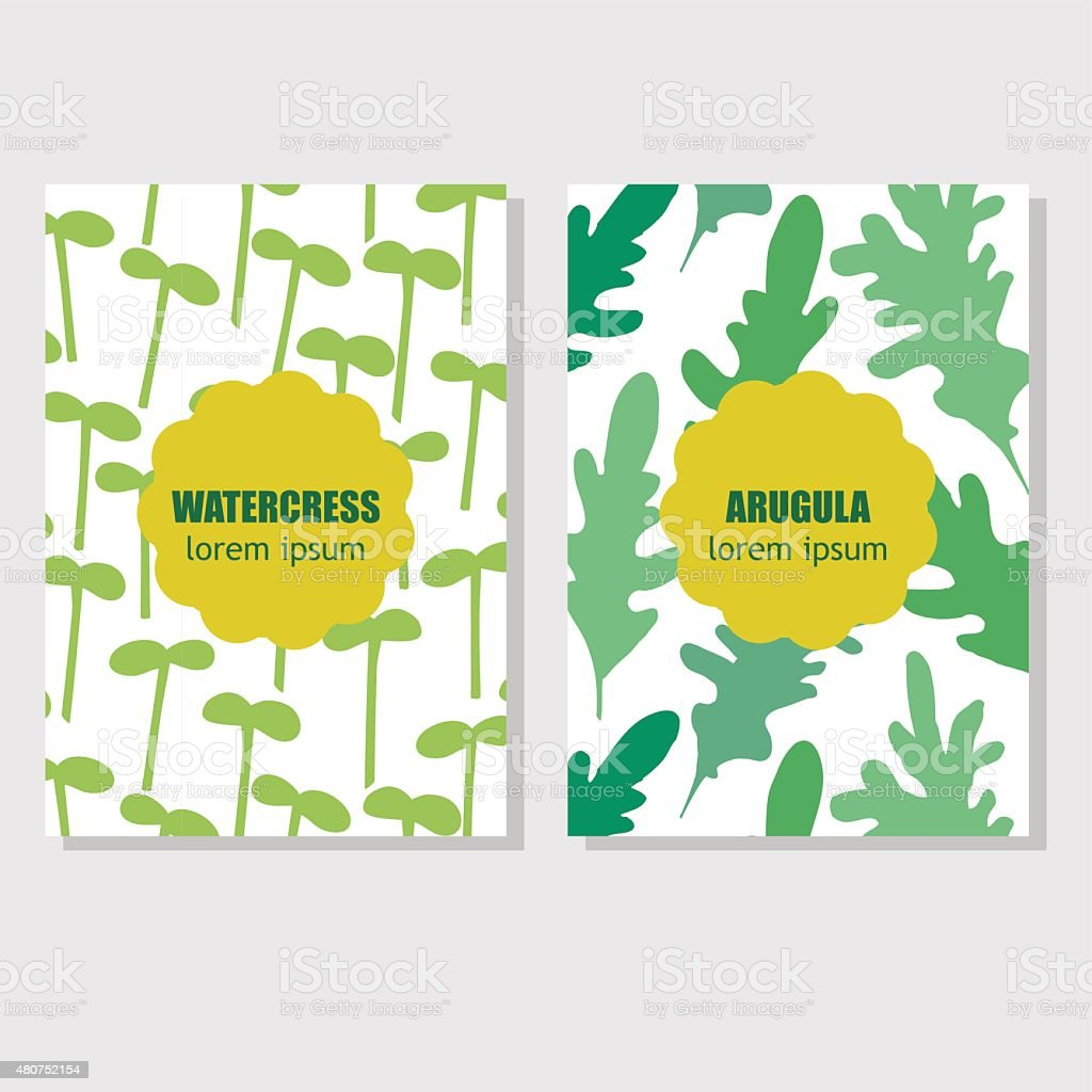 Concept for packing design with aromatic herbs and spices vector art illustration