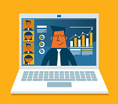 Vector illustration concept for video conference