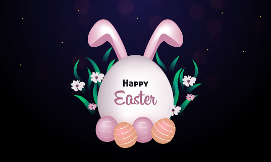Concept Happy Easter vector illustration