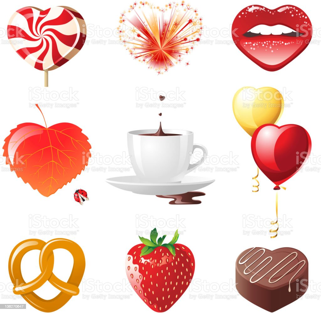 concept hearts set royalty-free concept hearts set stock vector art & more images of baking