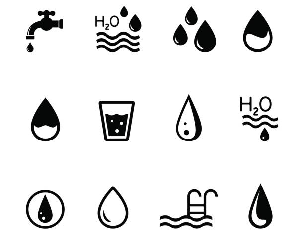 su temalı konsept simgeler - tap water stock illustrations