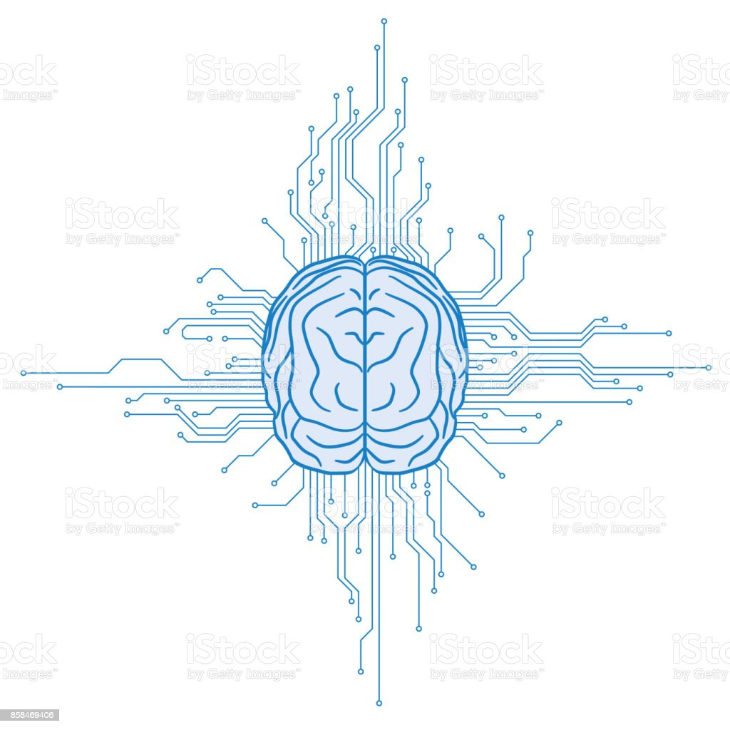 AI(Artificial Intelligence) concept illustration. vector art illustration