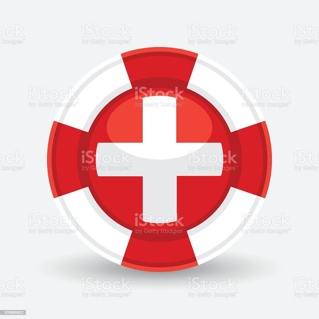 Concept lifebuoy life preserver icon with medical cross symbol concept lifebuoy life preserver icon with medical cross symbol royalty free stock vector art buycottarizona Choice Image