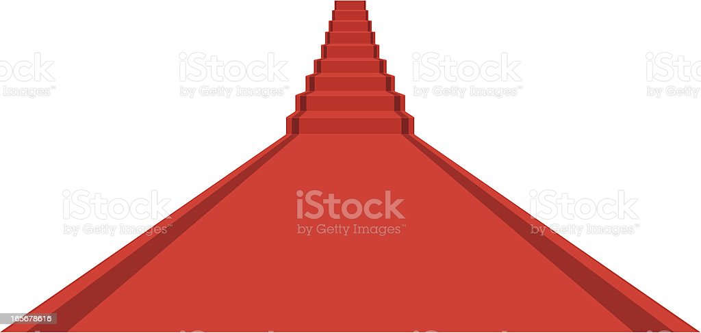 Concept long red carpet with stairs ahead royalty-free stock vector art