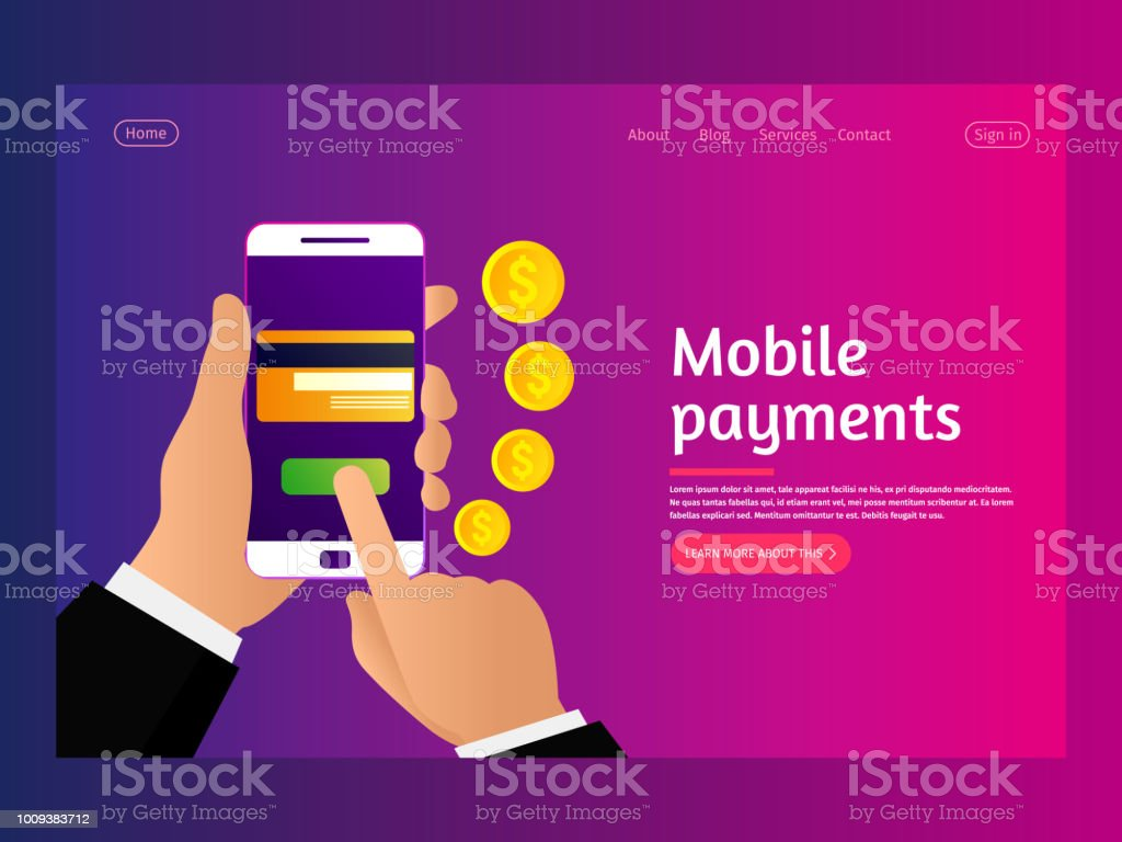 Money transaction, business, mobile banking and mobile payment.