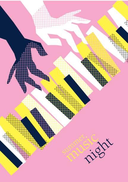 Vector Illustration Web Designs: Royalty Free Piano Concert Clip Art, Vector Images