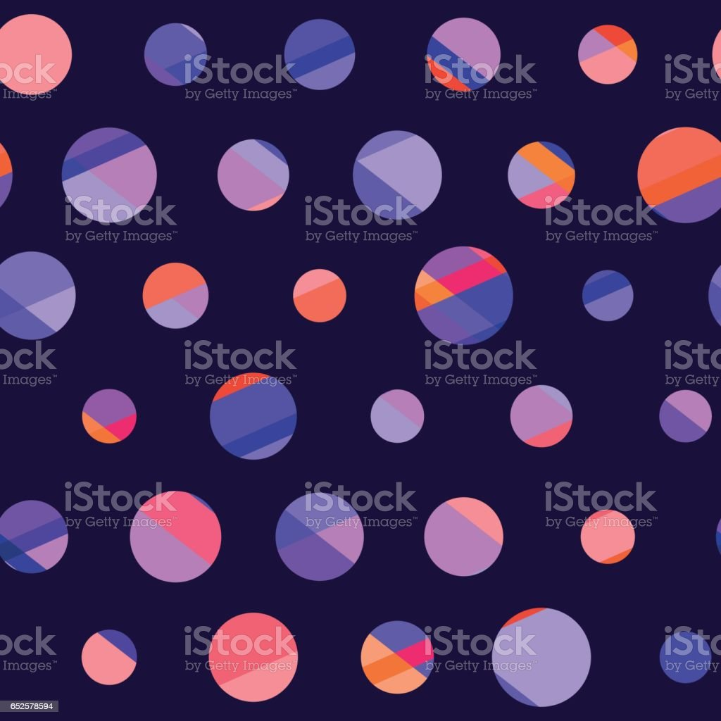 concept modern polka dot seamless pattern, surface design for background, fabric, wallpaper. geometry dots repeatable motif vector illustration on black background vector art illustration