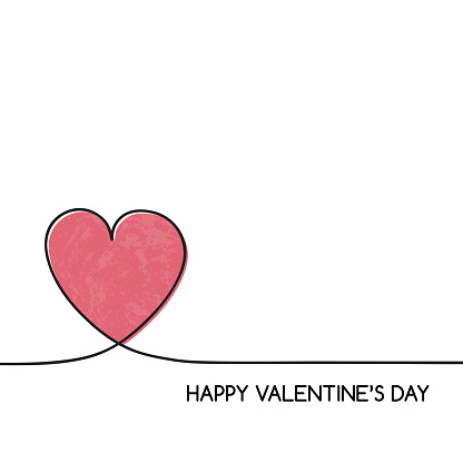 Concept of a greeting card with heart for Valentine's Day. Vector