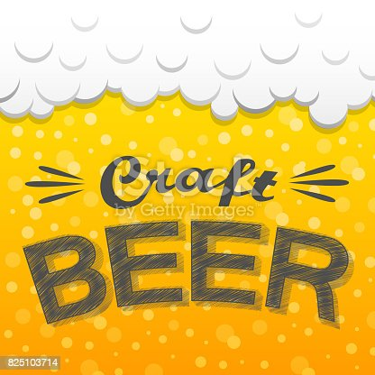 istock Concept of a poster with beer. Vector. 825103714