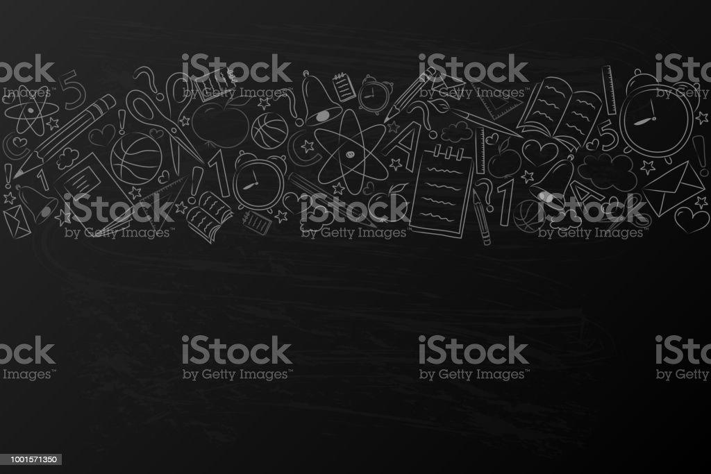 Concepto de un cartel con mano dibujado accesorios. Vector. - ilustración de arte vectorial