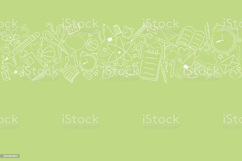Concepto de un fondo de escuela con Peña. Vector. - ilustración de arte vectorial