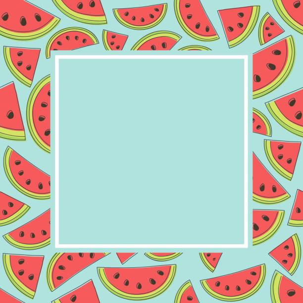Best Watermelon Border Illustrations, Royalty-Free Vector ...