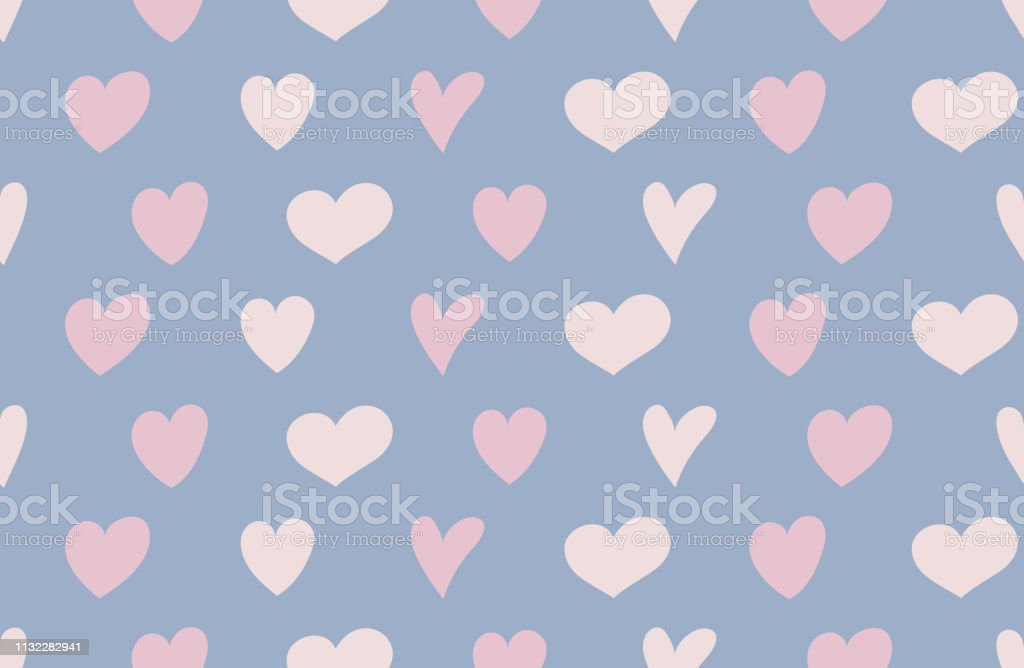 Concept of a wrapping paper with cute hearts. Valentine\'s Day,...