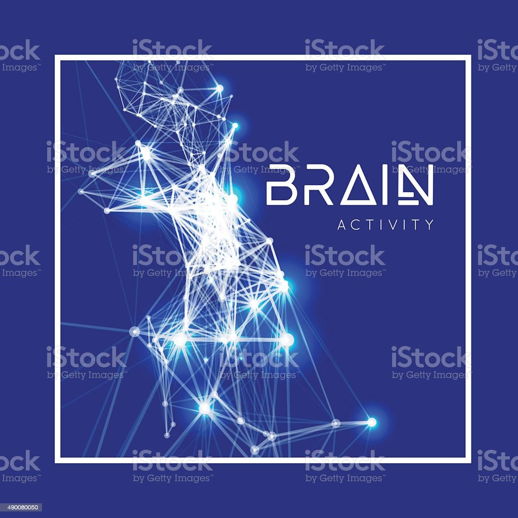 Concept of an Active Human Brain vector art illustration