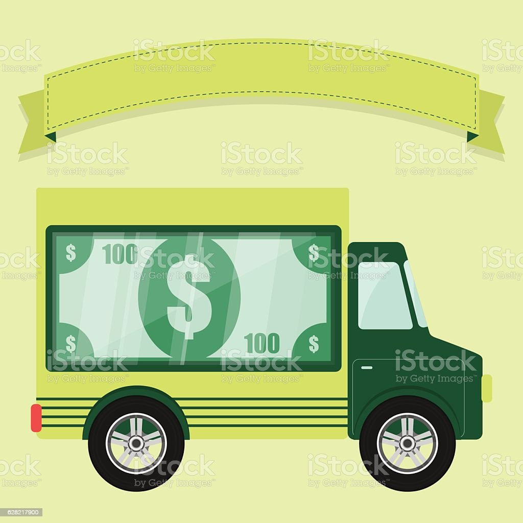 Concept of armored car vector art illustration