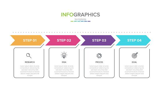 steps infographics stock illustrations