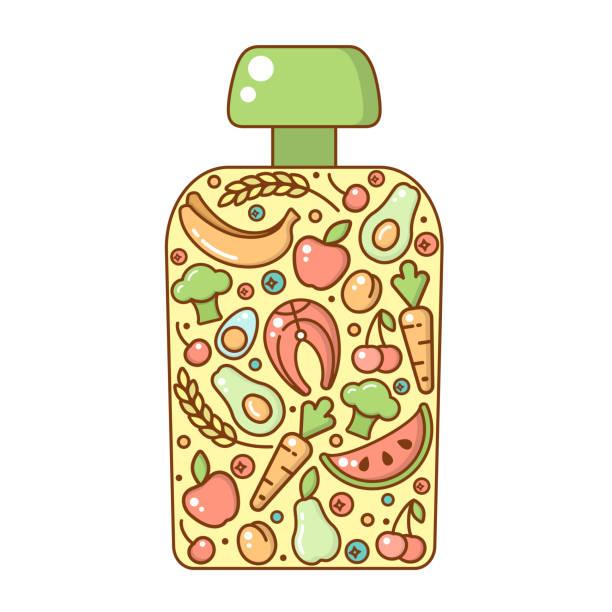 Cartoon Of The Baby Food Jar Illustrations, Royalty-Free ...