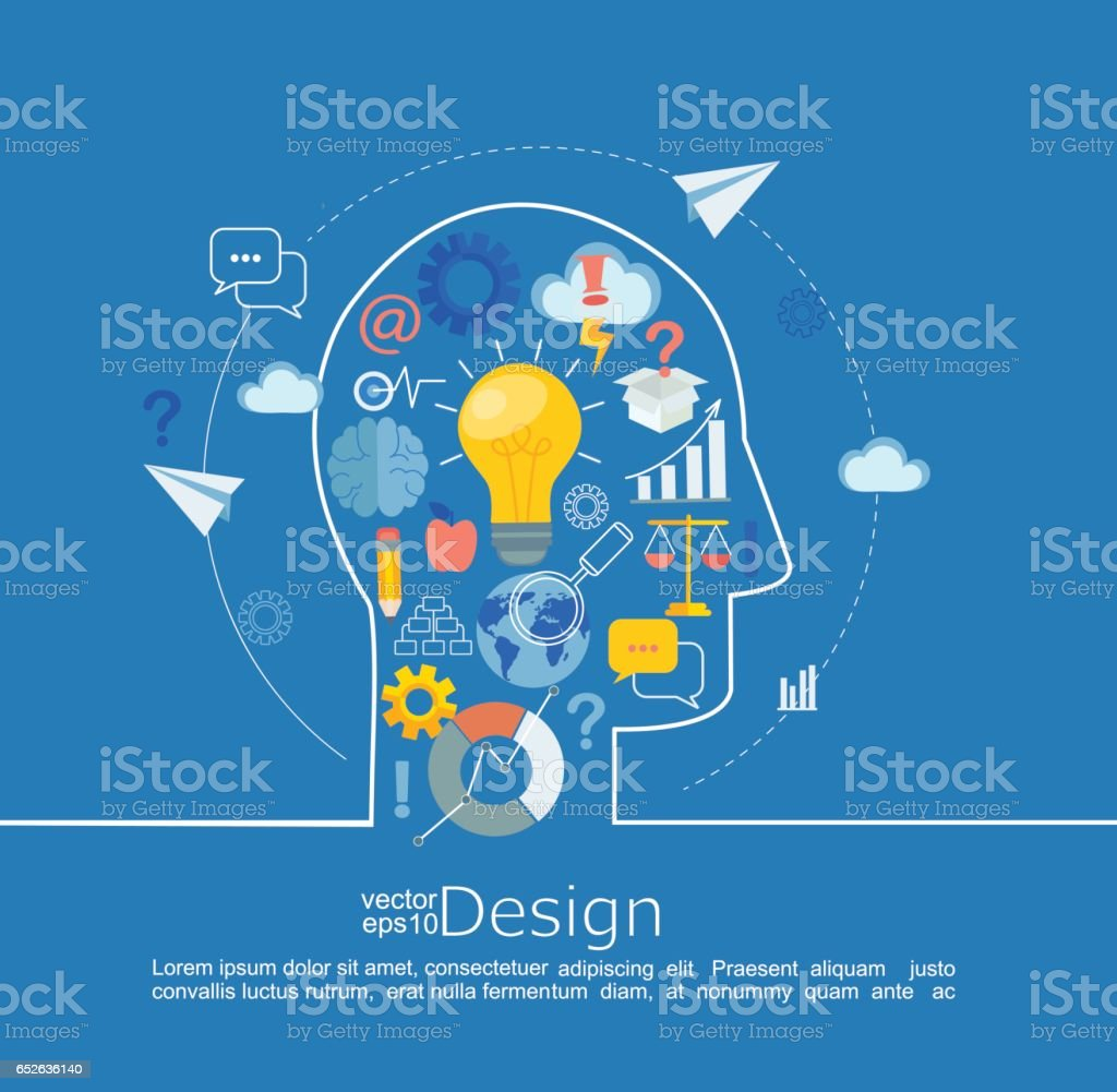 Concept of big idea. vector art illustration