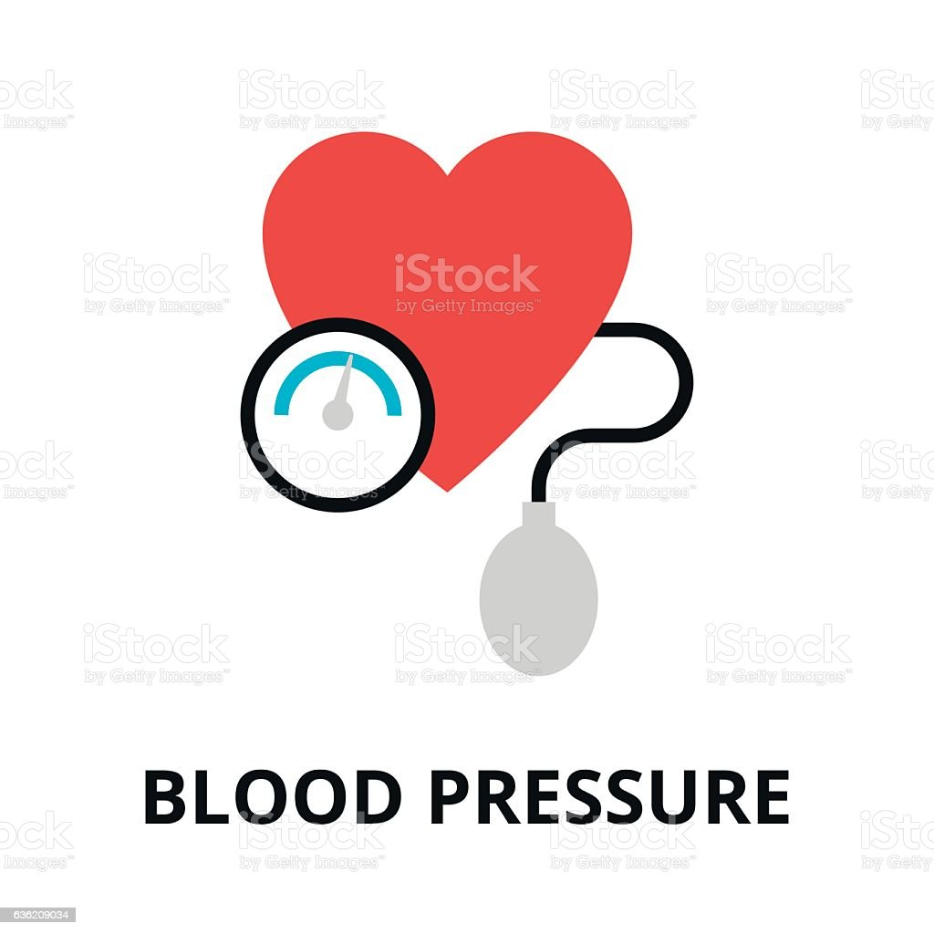 Concept of blood pressure icon vector art illustration