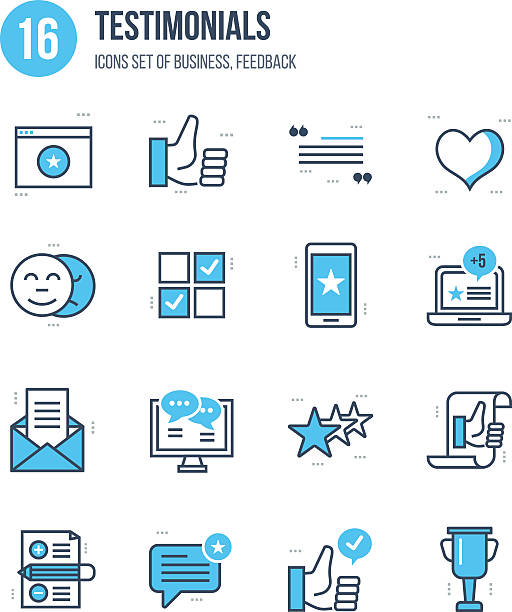 Concept of business, feedback, vote and reviews, quotations, liked. vector art illustration