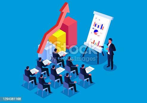 Concepto de formación empresarial o cursos