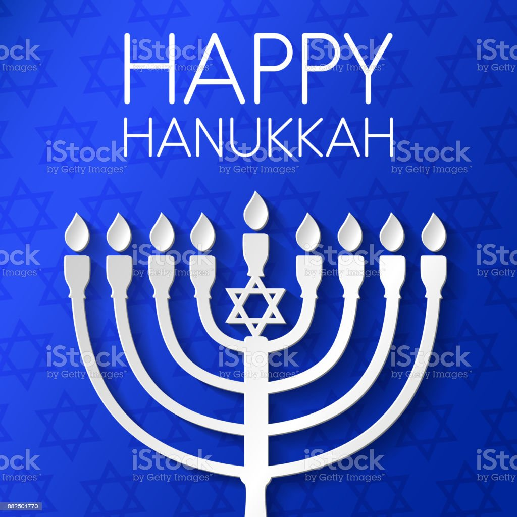 Concept of card for happy hanukkah with menorah and greeting vector concept of card for happy hanukkah with menorah and greeting vector royalty free m4hsunfo