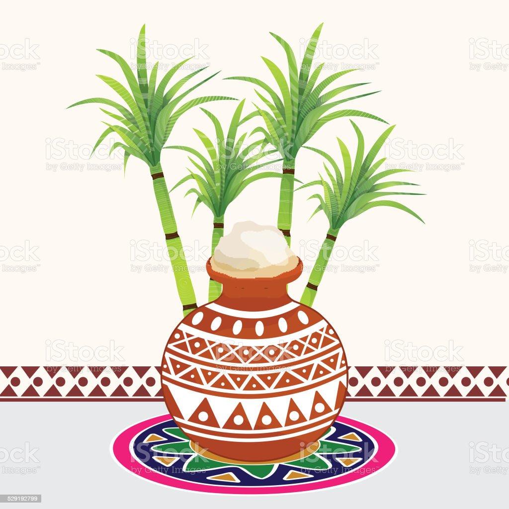 Concept of celebrating Happy Pongal.