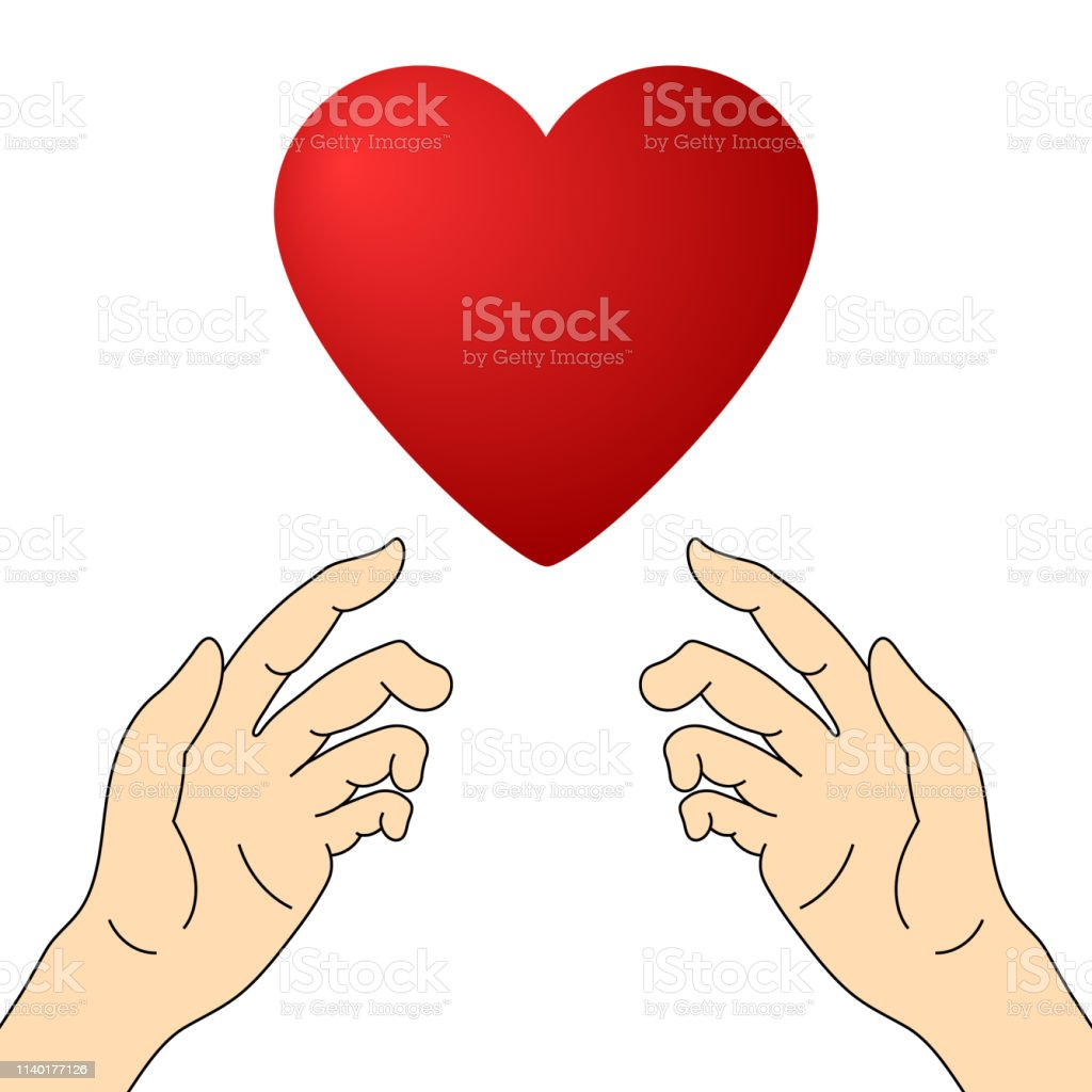 Concept of Charity and Donation. Hands Give Love. Give and share your...