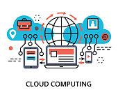 Concept of  cloud computing technologies