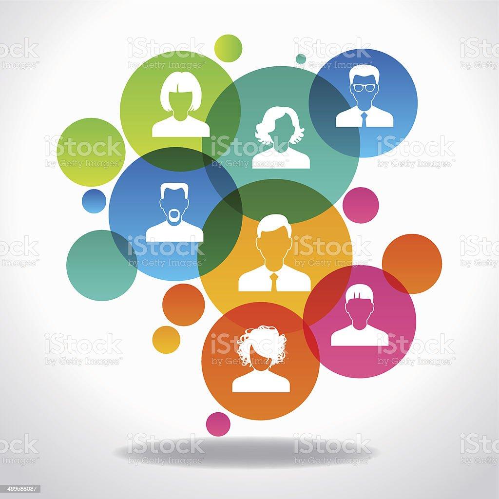 Concept of communication vector art illustration