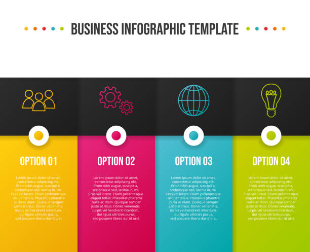 concept of company timeline - business infograph. vector - pojedynczny stopień stock illustrations