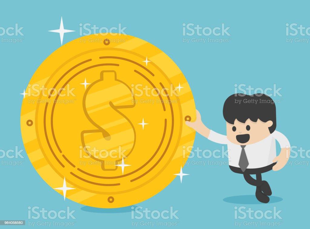 背景のビジネス コンセプト利益、成功、給与、ボーナスの金貨の競争の概念。イラスト ・ ベクター - イラストレーションのロイヤリティフリーベクトルアート