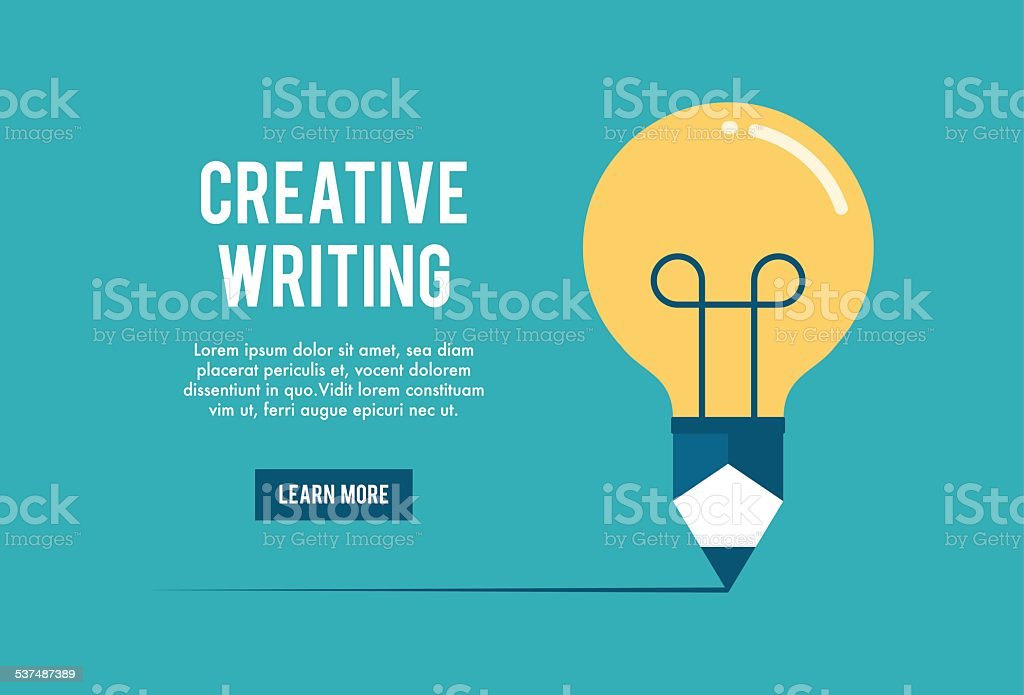 concept of creative writing workshop vector art illustration