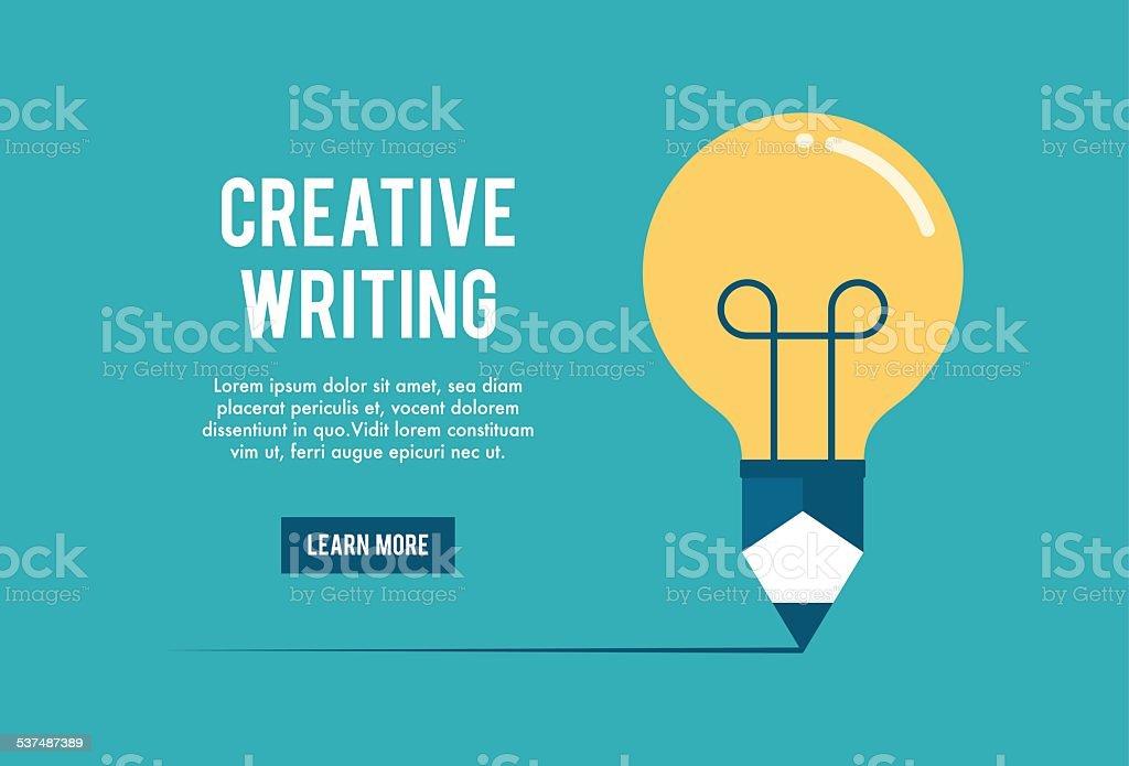 concept de l'atelier d'écriture créative - Illustration vectorielle