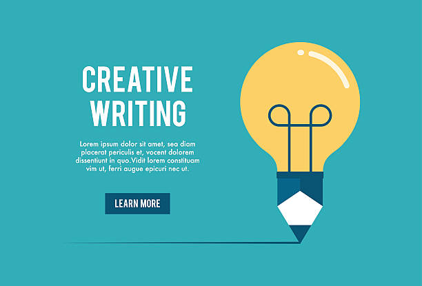 concept of creative writing workshop concept of creative writing workshop, vector illustration writing activity stock illustrations