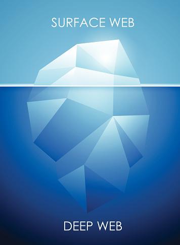 Concept of deep web - iceberg