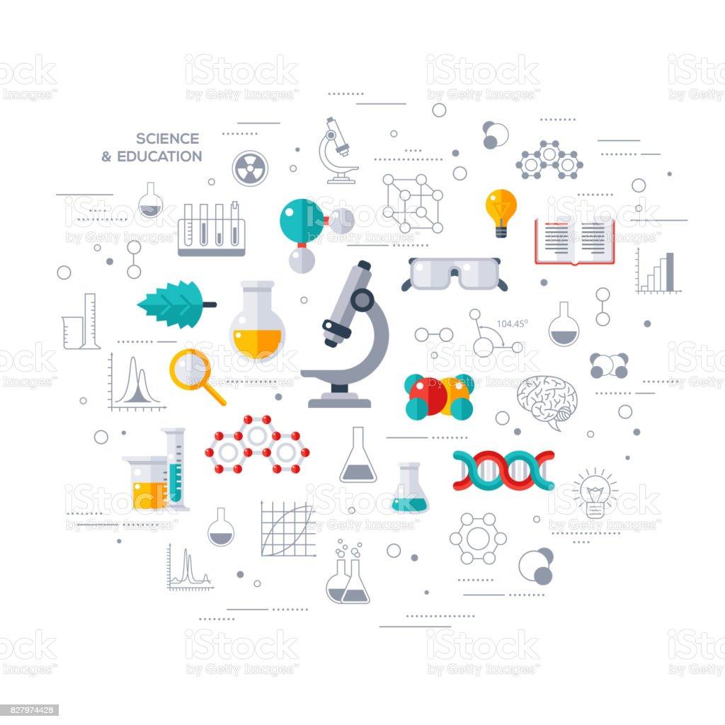 Concept of education and science with microscope concept of education and science with microscope - immagini vettoriali stock e altre immagini di analizzare royalty-free