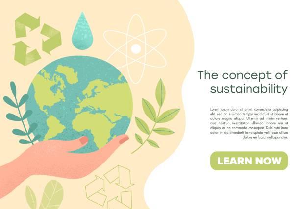 illustrations, cliparts, dessins animés et icônes de concept de protection de l'environnement - développement durable