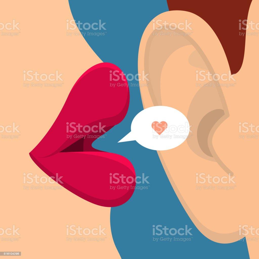 Concept of gossip vector art illustration