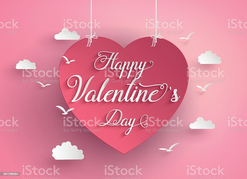 Concept of happy valentine day vector art illustration