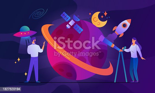 istock Concept of human space exploration 1327520194