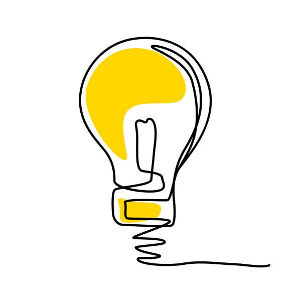 illustrazioni stock, clip art, cartoni animati e icone di tendenza di concept of idea with lightbulb. - facilità