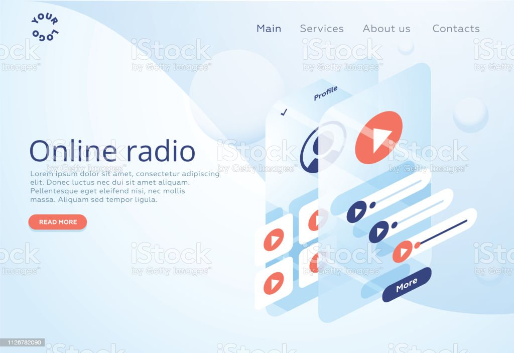 Concept Of Internet Online Radio Streaming Listening Music