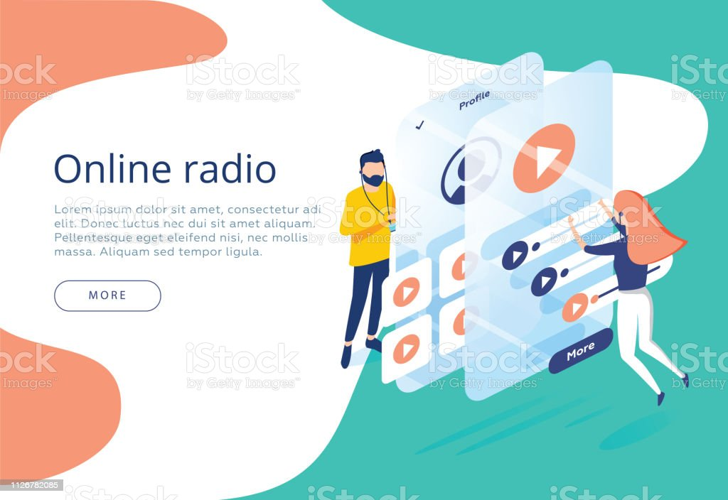 Concept Of Internet Online Radio Streaming Listening People Relax