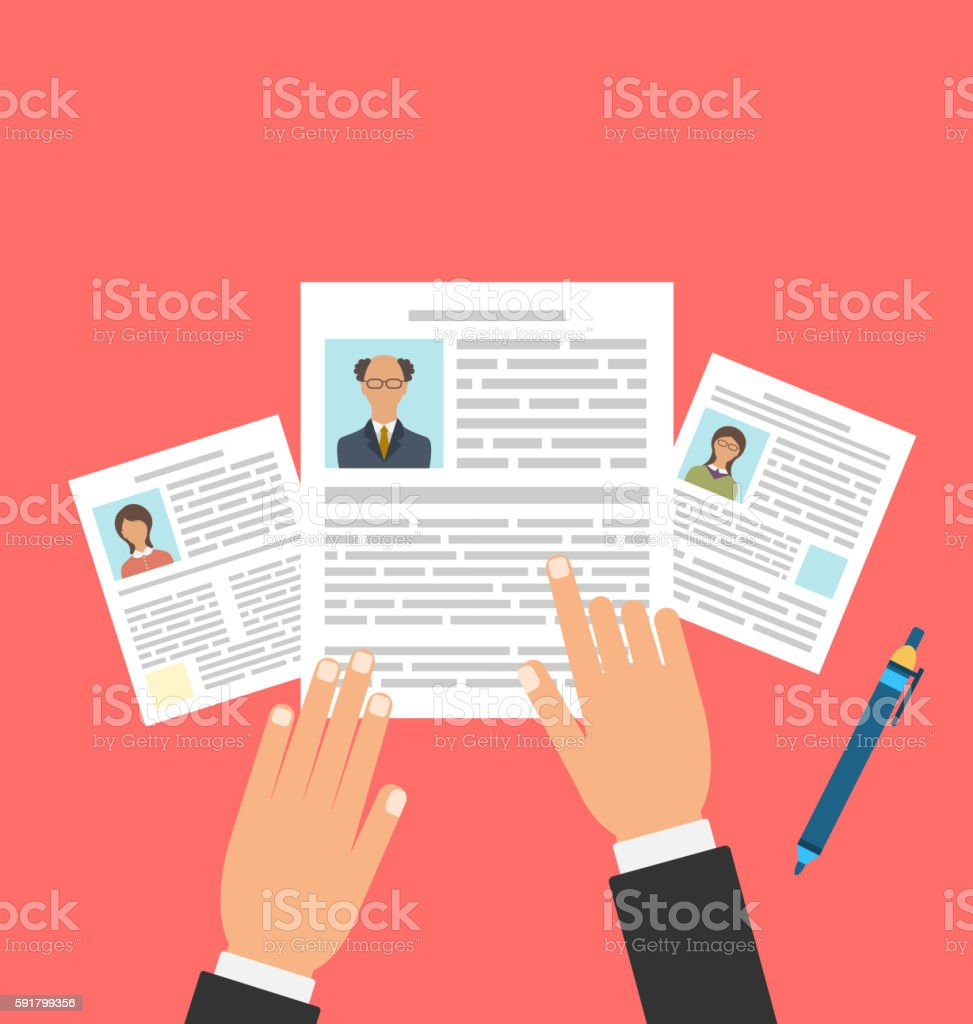 Concept Of Job Interview With Business Cv Resume Stock