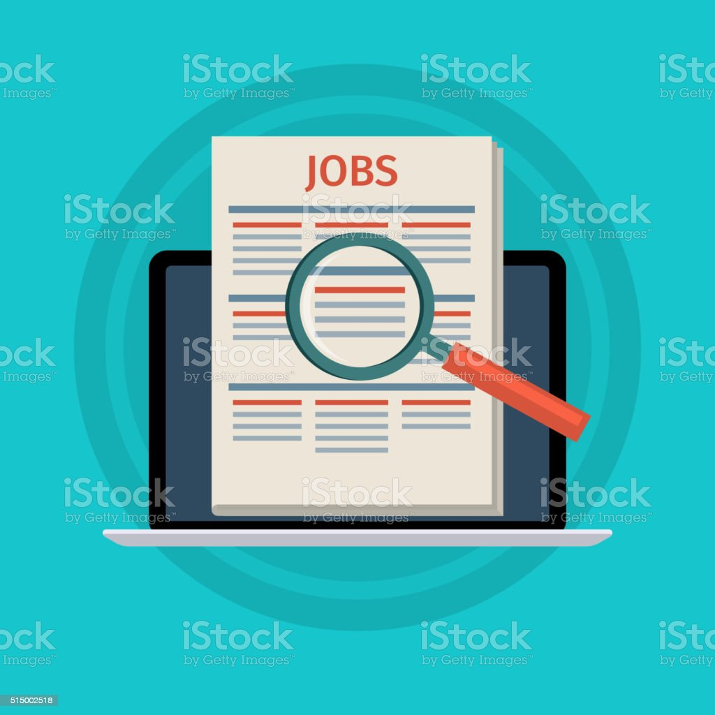 Concept of job searching vector art illustration